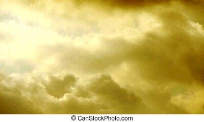 ciel, nuages, couverture, lumière, ciel, rayons