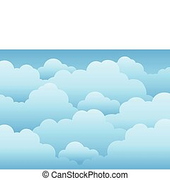 ciel nuageux, fond, 1