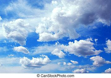 ciel, nuageux, fond
