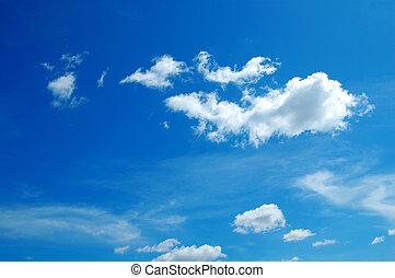 ciel nuageux, fond