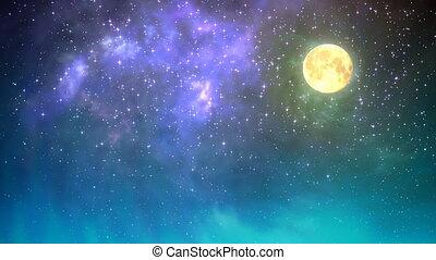 ciel nuit, boucle