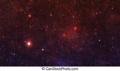 ciel nuit, galaxie, étoiles, nébuleuse