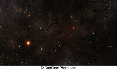 ciel, nuit, nébuleuse, étoiles, galaxie