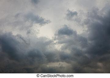 ciel, orageux, fond