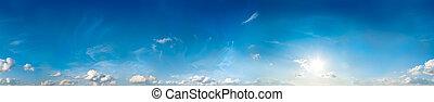 ciel, panorama., seamless, 360, degrees.