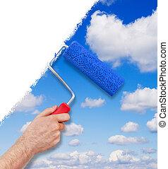 ciel, peinture