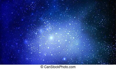 ciel, résumé, bleu, espace