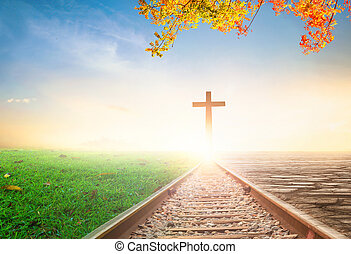 ciel, religieux, concept:, manière
