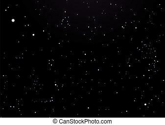 ciel sombre, étoiles, nuit