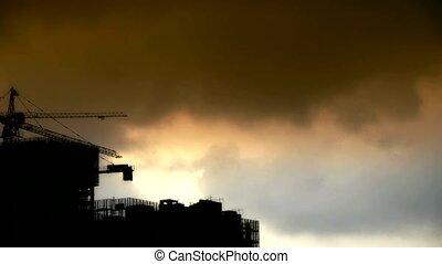 ciel sombre, couverture, nuages, soleil