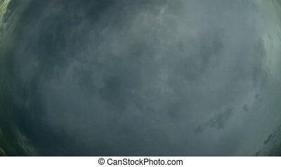 ciel, timelapse., 4k, vidéo, nuageux, zénith, -