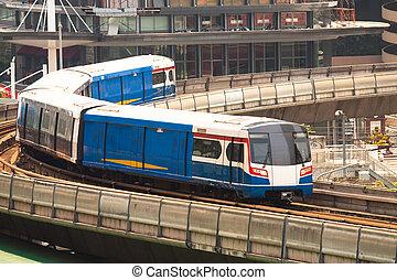 ciel, transit, masse, train