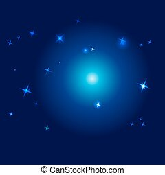 ciel, vecteur, -, illustration, nuit