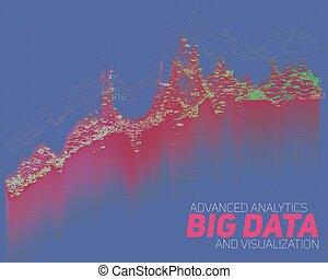cielna, abstrakcyjny, wektor, dane, visualization.