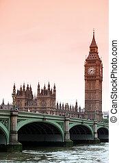 cielna ben, i, domy parlamentu, londyn, uk