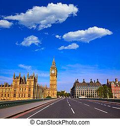cielna ben zegar wieża, w, londyn, anglia