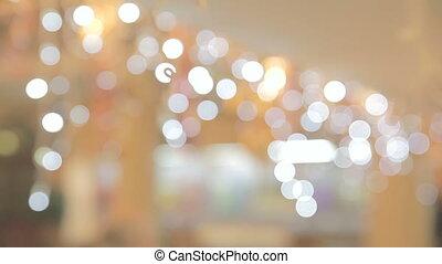 cielna, bokeh, loopable, tło, światła