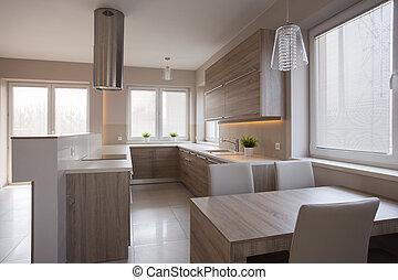 cielna, drewniany, kuchnia