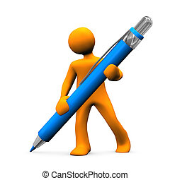 cielna, karzeł, długopis