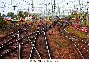cielna, kolejowa stacja