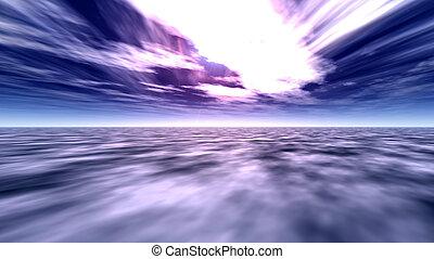 cielo, 2, océano