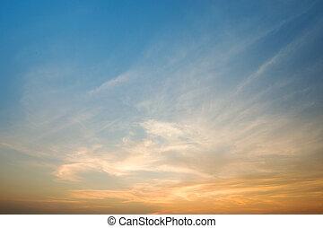 cielo, a, tramonto