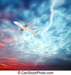 cielo, aeroplano