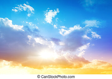 cielo, amanecer pintoresco