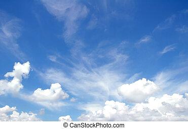 Azul Color Lápiz Cielo Abierto Dibujo Paisaje Azul Color