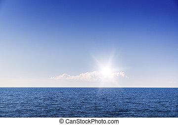 cielo azul, blanco, cloudscape., cloud.