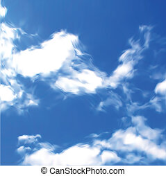 cielo azul, con, clouds., vector