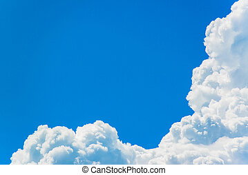 cielo azul, con, nube, primer plano