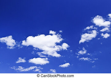 cielo azul, con, nubes blancas