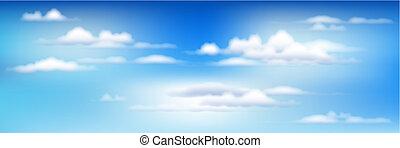 cielo azul, con, nubes