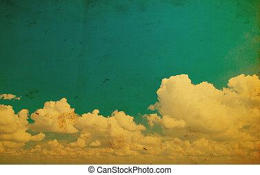 cielo azul, fondo.
