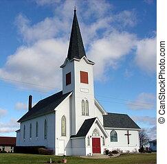 cielo azul, iglesia