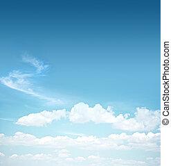 cielo azul, nubes, algunos