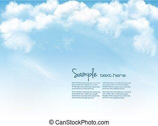 cielo blu, con, clouds., vettore, fondo
