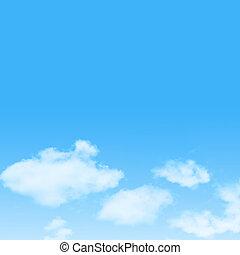 cielo blu, disegno, fondo, nuvola, icona