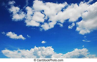 cielo blu, e, nubi