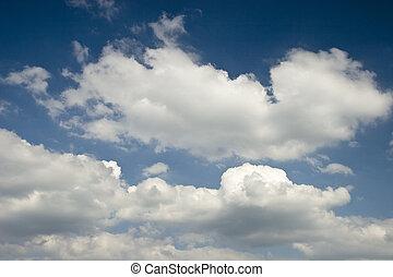cielo blu, e, nubi bianche