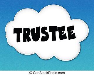 cielo blu, fondo., bianco, messaggio, nuvola, trustee