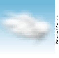 cielo blu, fondo, nubi, lanuginoso