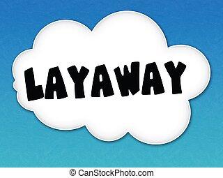 cielo blu, layaway, fondo., bianco, messaggio, nuvola