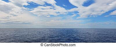 cielo blu, mare, orizzonte