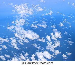 cielo blu, nubi, &