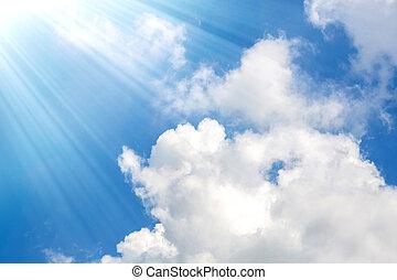cielo blu, nubi
