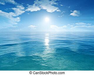 cielo blu, oceano