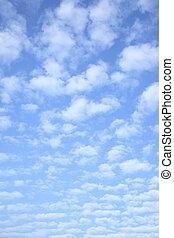 cielo, brillante, nubes