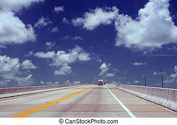 cielo, carretera